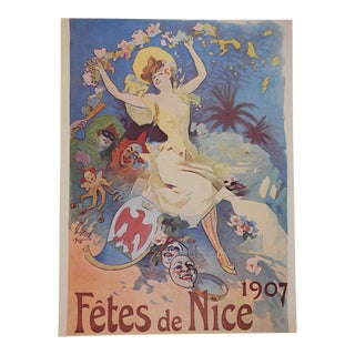 Vintage Poster by Listed Artist - Nice, France For Sale