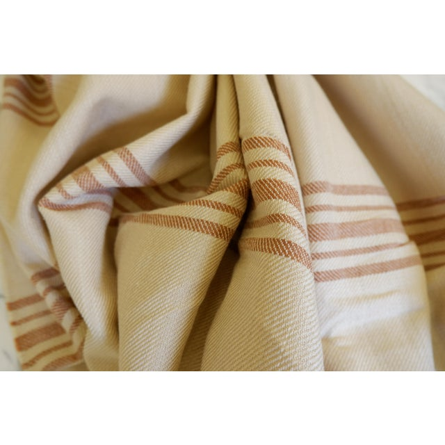 Modern Turkish Hand Made Bed Coverlet With Natural Linen/Cotton,70x96 Inches For Sale - Image 3 of 8