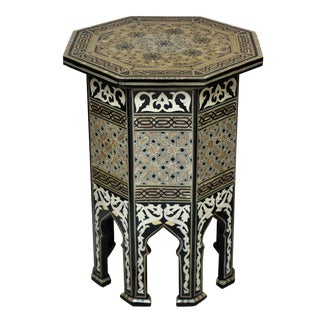 A Fine Syrian Inlaid Table For Sale