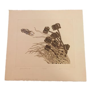 "Yvonne Davis Hand Colored Etching, ""Jack Island"", Signed and Numbered For Sale"