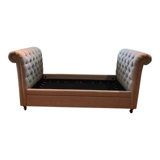 Restoration Hardware Chesterfield Fabric Divan Daybed For Sale