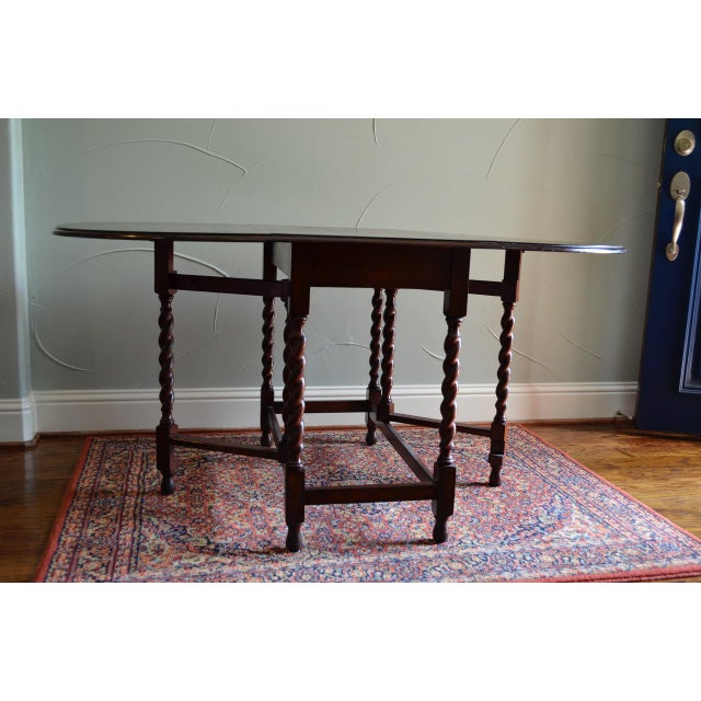 Mahogany Early 20th Century Antique English Oak Table For Sale - Image 7 of 7