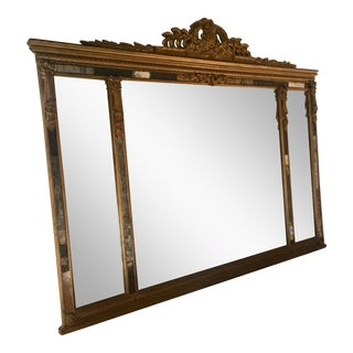 French Bow Knot Wall Mirror For Sale