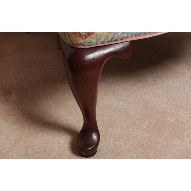 Vintage Woodmark Original Crewel Embroidered Wingback Chair For Sale - Image 10 of 11
