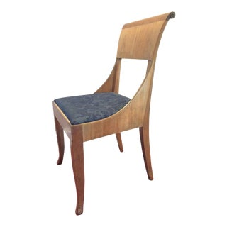 1920s Hollywood Regency Baker Furniture Company Side Chair For Sale