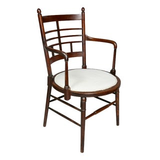 English Arts and Crafts Mahogany Armchair by Liberty and Co For Sale