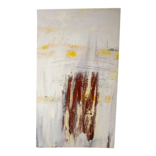 """""""The Inferno, It Waits"""" Contemporary Abstract Expressionist Oil Painting For Sale"""