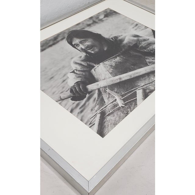 "Vintage ""Eskimo"" Framed Photograph by the Education Development Center C.1967 For Sale In San Francisco - Image 6 of 8"