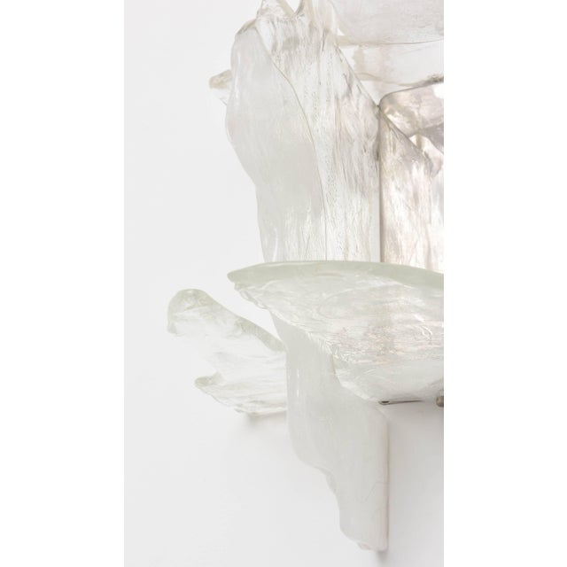 Mid 20th Century Murano Glass Wall Sconces by Mazzega, Italy, 1960s - a Pair For Sale - Image 5 of 11
