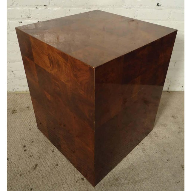 Mid-Century Modern Burlwood Patchwork Pedestal For Sale In New York - Image 6 of 6