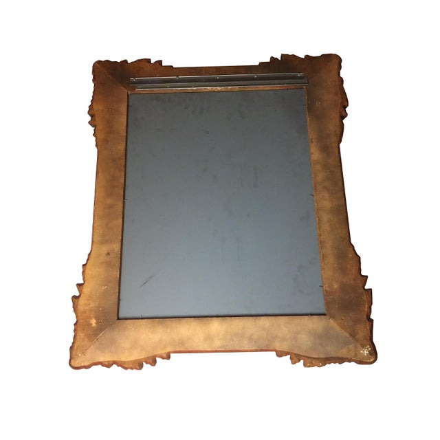 Vintage Gold Hand Carved Wooden Mirror - Image 3 of 4