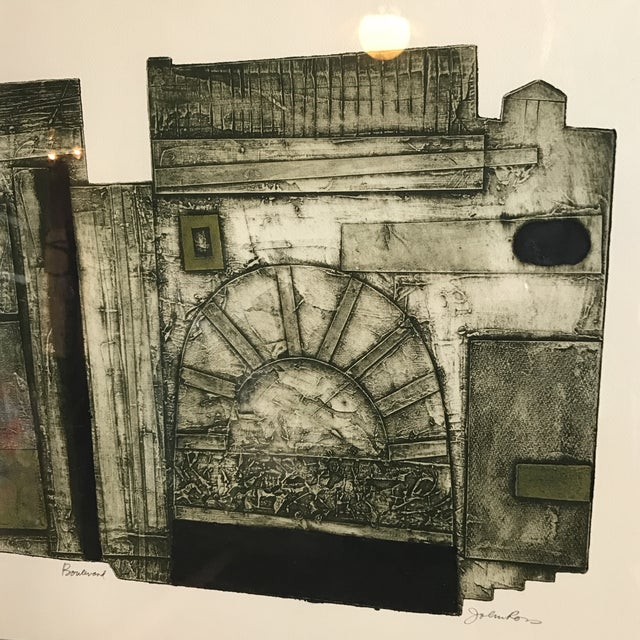 John Ross Architectural Collagraph - Image 4 of 10
