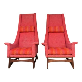 Adrian Pearsall High Back Chairs - A Pair