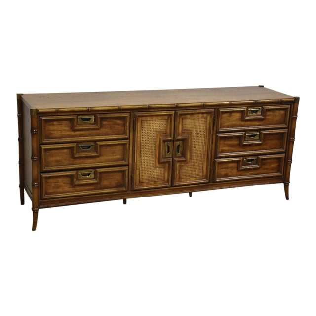 Stanley Faux Bamboo Hollywood Regency Dresser - Image 1 of 11