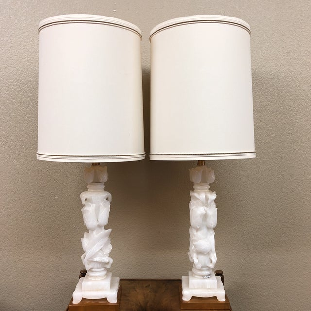 Marbro Company Vintage Alabaster Table Lamps - a Pair For Sale - Image 13 of 13