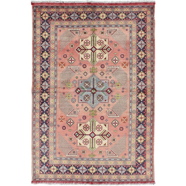 1950s Semi Antique Afshar Rug - 4′ × 6′ For Sale