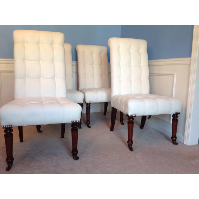 Barclay Butera Tufted Dining Chairs - Set of 4 - Image 2 of 7