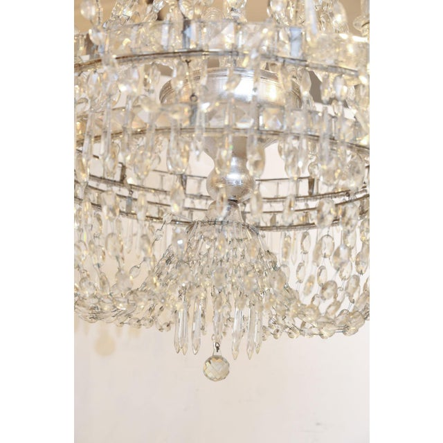 Large Eight-Light Crystal Chandelier For Sale - Image 4 of 8
