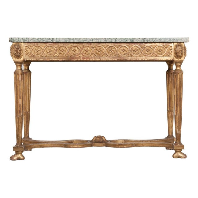 18th Century Period Louis XVI Gold Gilt Console For Sale - Image 13 of 13