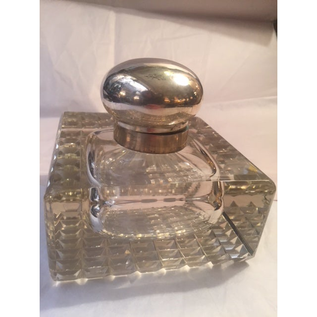 Late 19th Century 1900s English Inkwell With Sterling Mounts For Sale - Image 5 of 8