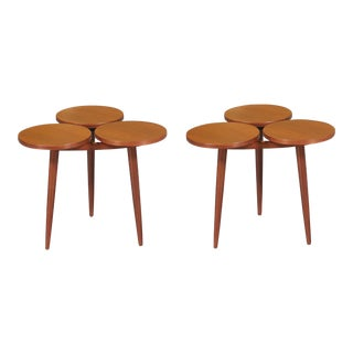 Pair of Greta Grossman Style Walnut Side Tables - $950
