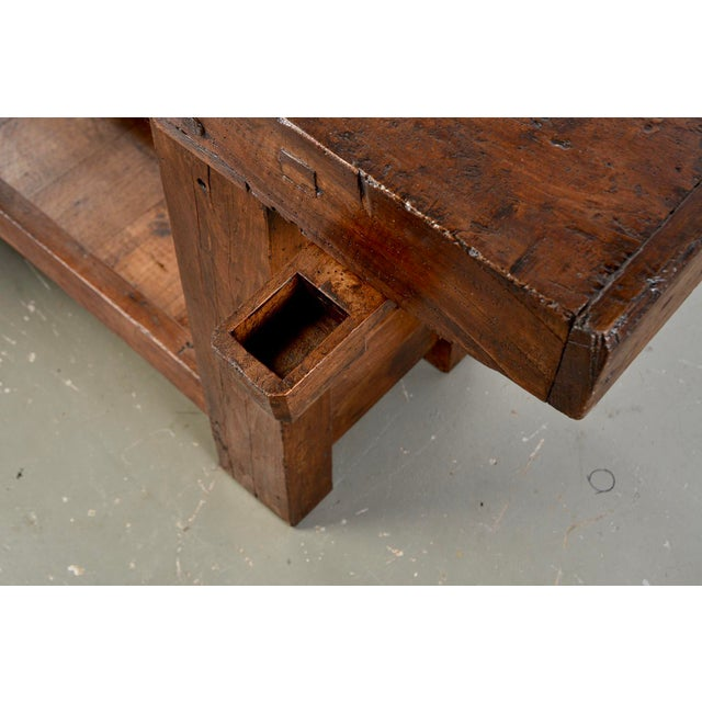 Mid 19th Century 19th Century French Carpenters Workbench Table For Sale - Image 5 of 13