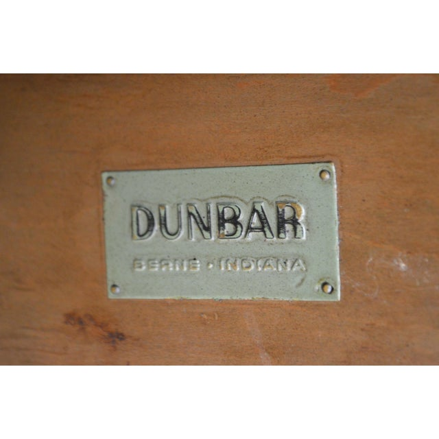 "Mid-Century Modern Dunbar Edward Wormley Mid Century Modern 54"" Cherry & Walnut Dining Table (Opens 10 Feet) For Sale - Image 3 of 13"