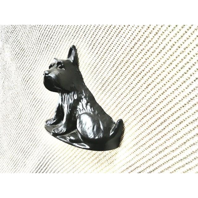 Rustic Vintage Black Cast Iron Scottish Terrier Doorstop/Bookend For Sale - Image 3 of 8