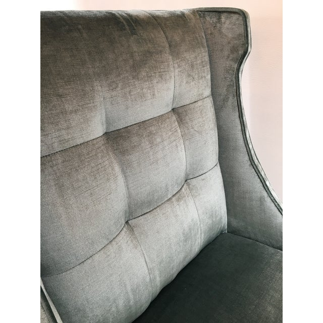 Textile Velvet Designmaster Furniture Franklin Host Wing Chairs - a Pair For Sale - Image 7 of 11