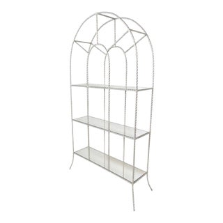 Silver Gilt Metal Rope Twist Etagere