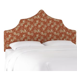 Leopard Run Burnt Orange Twin Headboard For Sale