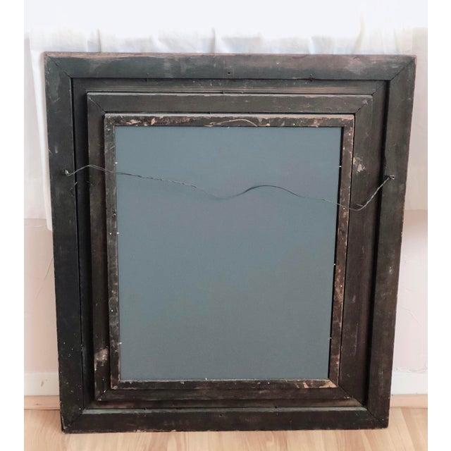 Antique Framed Wood Mirror For Sale - Image 4 of 5