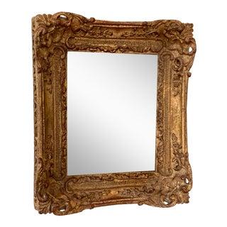 Vintage Gold Leaf Mirror For Sale