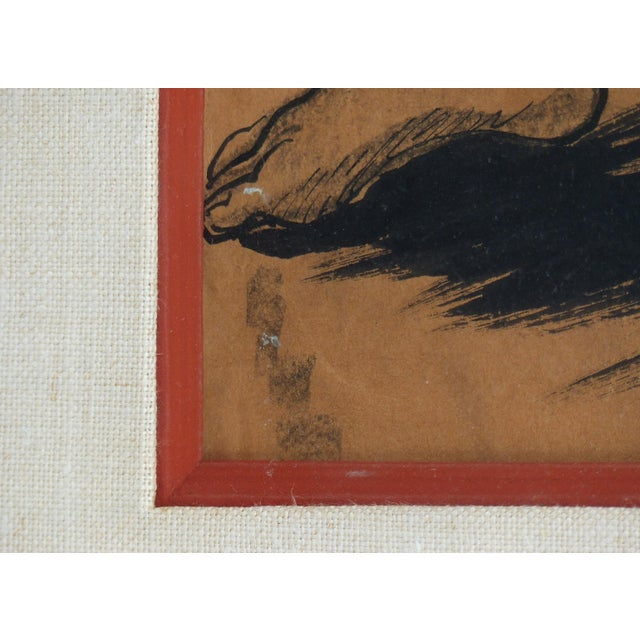 1930s Charcoal on Paper by American Artist Marion Greenwood, Signed ,1933, Mexico For Sale - Image 5 of 8