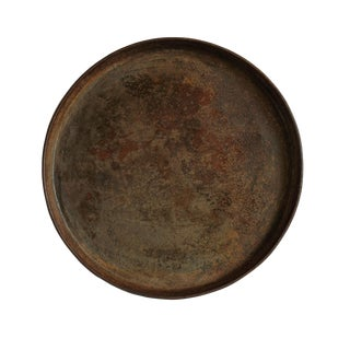 Vintage Round Iron Tray For Sale