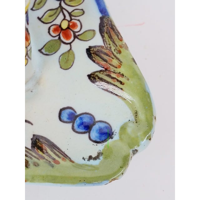 19th C French Faience Inkwell - Image 4 of 8