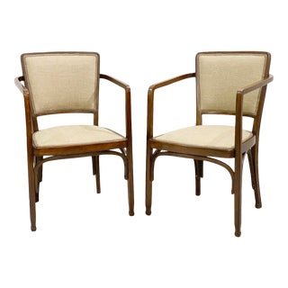 Pair of Gustave Siegel Chairs for J & J Kohn - Vienna Secession For Sale