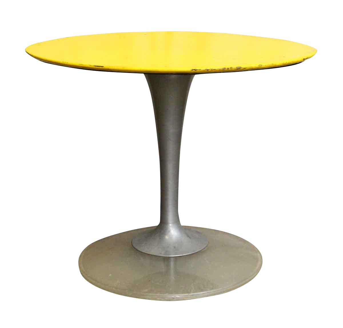 Yellow U0026 Brushed Chrome Cafe Or Ice Cream Parlor Table