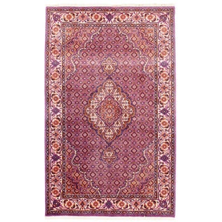 "Traditional Pasargad N Y Tabriz Mahi Design Silk & Wool Rug - 3' X 4'10"" For Sale"