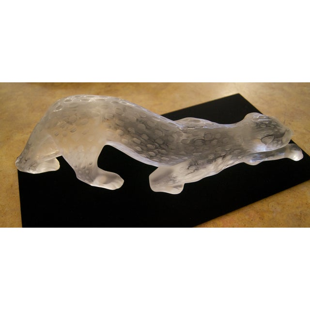 Crystal 1970s Contemporary Lalique Crystal Panther Sculpture For Sale - Image 7 of 8