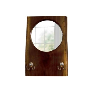 Live Edge Black Walnut Slab Coat Hanger With Mirror For Sale