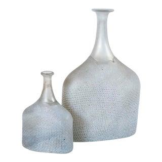 1970s Bertil Valien for Kosta Boda Art Glass Vases - Set of 2 For Sale