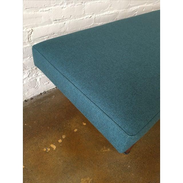 Danish Modern Walnut Upholstered Bench - Image 5 of 6