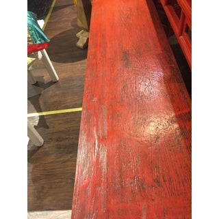 Chinese Antique Red Bench Preview