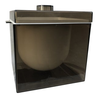 1960s Modern Smokey Lucite Ice Bucket For Sale
