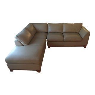 Modern Leather Chaise Sectional