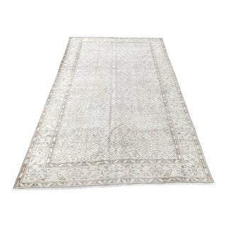 Antique Tribal Oushak Turkish Rug - 5′2″ × 8′9″ For Sale