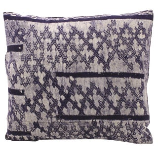 Hmong Print Indigo Pillow For Sale