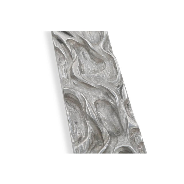 Mid-Century Modern Monumental George Mullen Aluminum Door Handle For Sale - Image 3 of 5