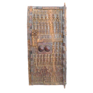 Dogon Mali Figural Granary Door For Sale